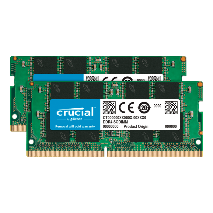 8GB Kit (2 x 4GB) DDR4 2666MHz, CL19, SO-DIMM Memory