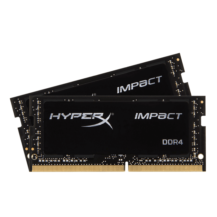 32GB Kit (2 x 16GB) HyperX Impact DDR4 2933MHz, CL17, Black, SO-DIMM Memory