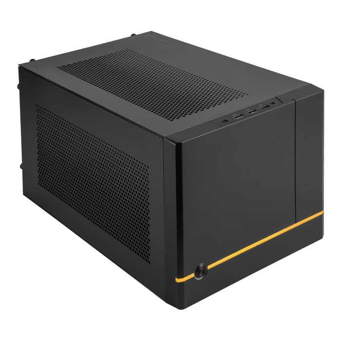 SUGO 14, No PSU, Mini-ITX, Black, Mini Cube Case