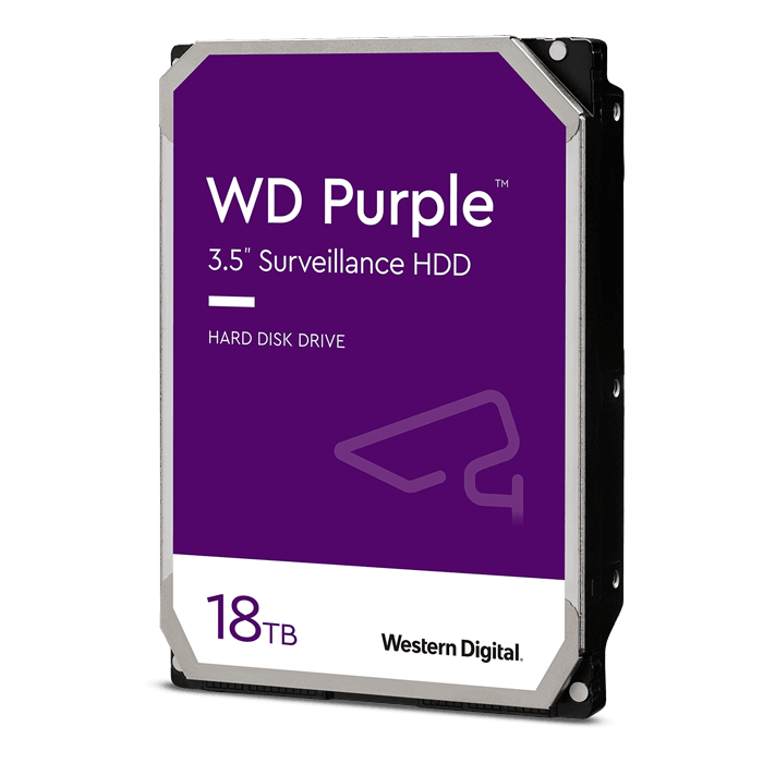 18TB Purple WD180PURZ, 7200 RPM, SATA 6Gb/s, 512MB cache, 3.5-Inch HDD