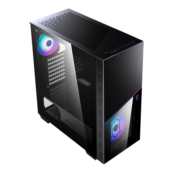 MPG SEKIRA 100R Tempered Glass, No PSU, E-ATX, Black, Mid Tower Case