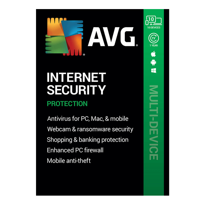 AVG Internet Security 2020 (1-Year Subscription, 10 Devices, Download)