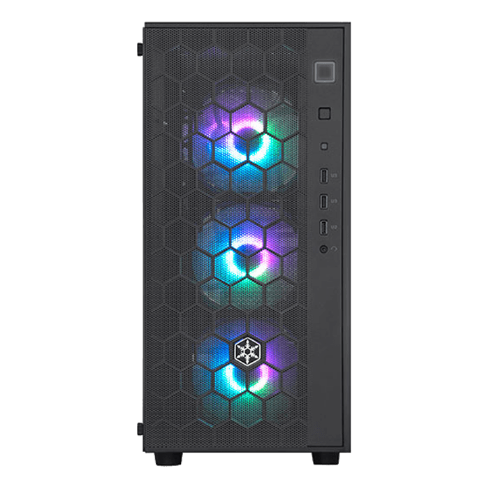FARA R1 PRO Tempered Glass, No PSU, ATX, Black, Mid Tower Case