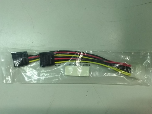 4-pin Molex Male to Dual SATA Power Adapter Cable, Sleeved