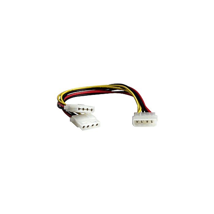 4-pin Molex Male to 2x 4-pin Molex Female Cable, Y-splitter, 9-Inch