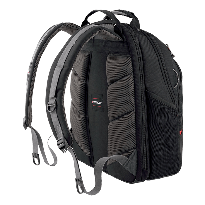 "Legacy 15.6"", Polyester, Black, Backpack Carrying Case"