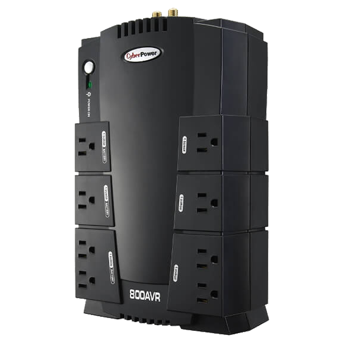 AVR CP800AVR, 800VA/450W, 120V, 8 Outlets, Black, Tower UPS