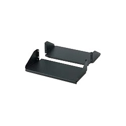 Double Sided Fixed Shelf for 2-Post Rack, 250lbs, Black