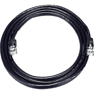 CAT5 Cable, Male to Male, Black, 14 feet