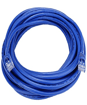 CAT5 Cable, Male to Male, Blue, 50 feet