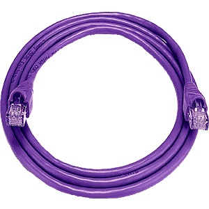 CAT5 Cable, Male to Male, Purple, 7 feet
