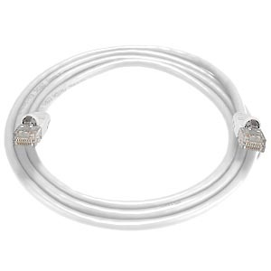 CAT5e Stranded Unshielded Cable, White, 10 feet