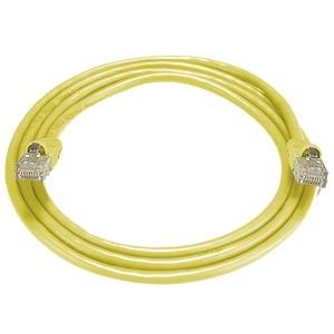 CAT5e Stranded Unshielded Cable, Yellow, 10 feet