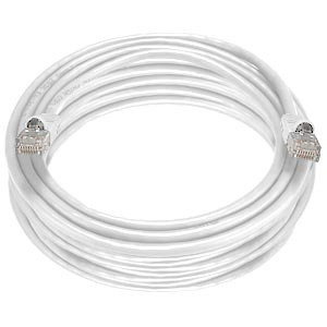 CAT5e Stranded Unshielded Cable, White, 50 feet