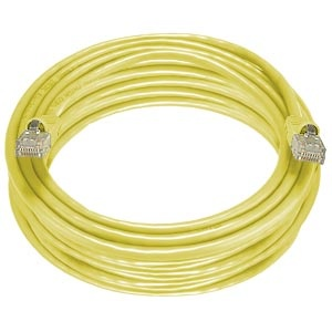 CAT5e Stranded Unshielded Cable, Yellow, 50 feet