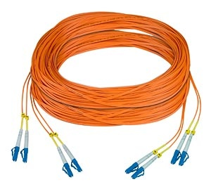 Two Duplex LC to LC 50-micron Fiber Cable, 1000 meters