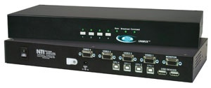 4-Port VGA USB KVM Switch with OSD + RS232
