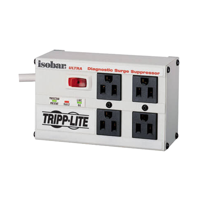 Isobar ISOBAR4ULTRA, 4 Outlets, 6-ft cord, 120V/12A, White, Surge Protector