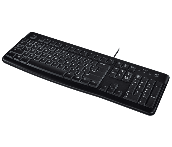 K120, Wired USB, Black, Keyboard