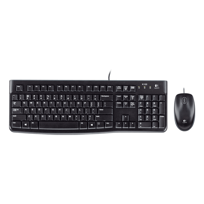 MK120, Wired USB, Black, Keyboard & Mouse