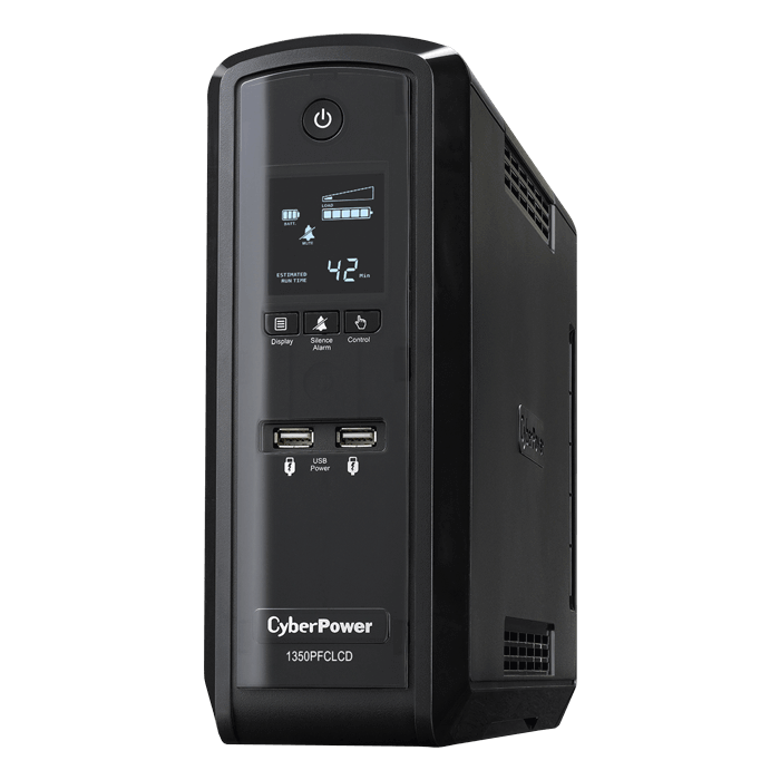 PFC Sinewave CP1350PFCLCD, 1350VA/810W, 120V, 10 Outlets, Black, Tower UPS