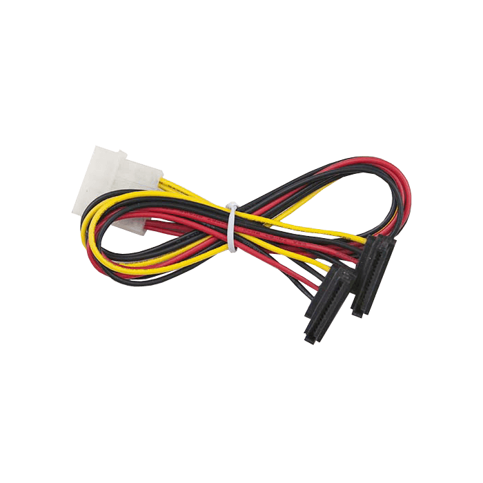 11.81in SATA Power Cable, PB-Free - Big 4pin (M) to 2x SATA (RA)