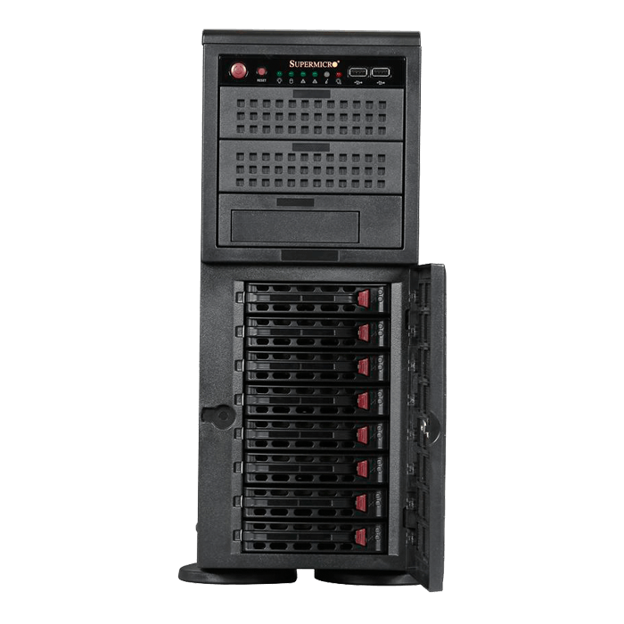 "SuperChassis 745TQ-920B, 8x 3.5"" Hotswap and 3x 5.25"" Drive Bays, 920W Rdt PSU, EE-ATX, Tower / 4U Chassis"