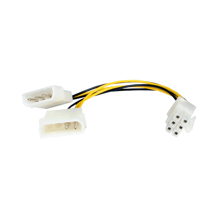 6in LP4 to 6 Pin PCI Express Video Card Power Cable Adapter