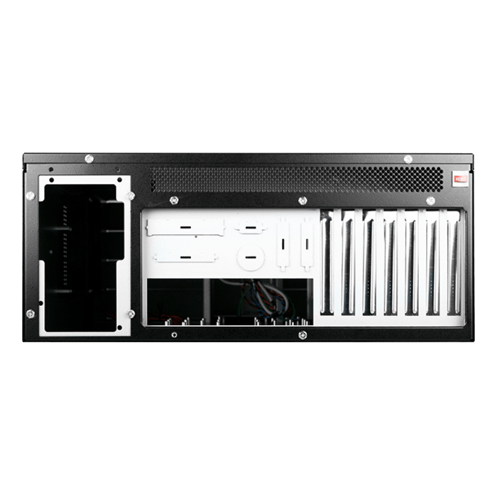 "D Storm D410-DE12BK, Black HDD Handle, 12x 3.5"" Hotswap Bays, No PSU, E-ATX, Black, 4U Chassis"