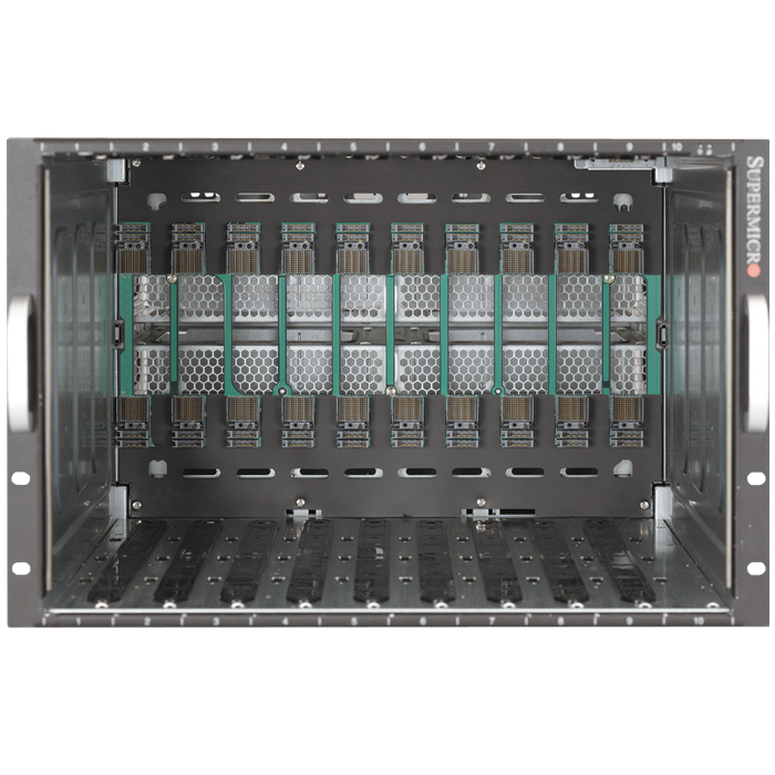 SBE-720E-R90 7U SuperBlade® Enclosure, 10 Hot-Plug Blade Bays, 4x 3000W PSU