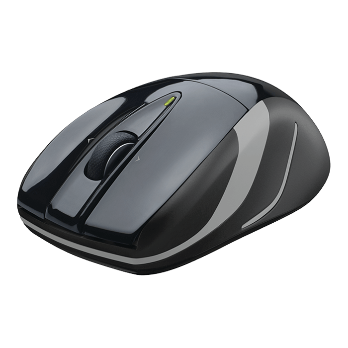 M525, 1000dpi, Wireless 2.4GHz USB, Black/Grey, Optical Mouse