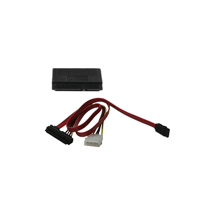 SATA Data Cable and 4-pin Molex Male to SATA Data and Power Combination Connetcor