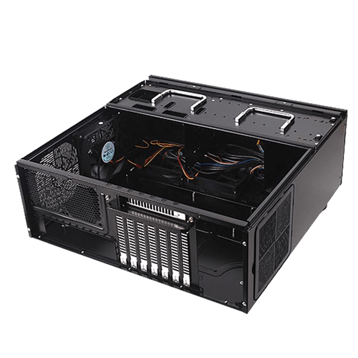 Grandia Series SST-GD08B, No PSU, E-ATX, Black, HTPC Case