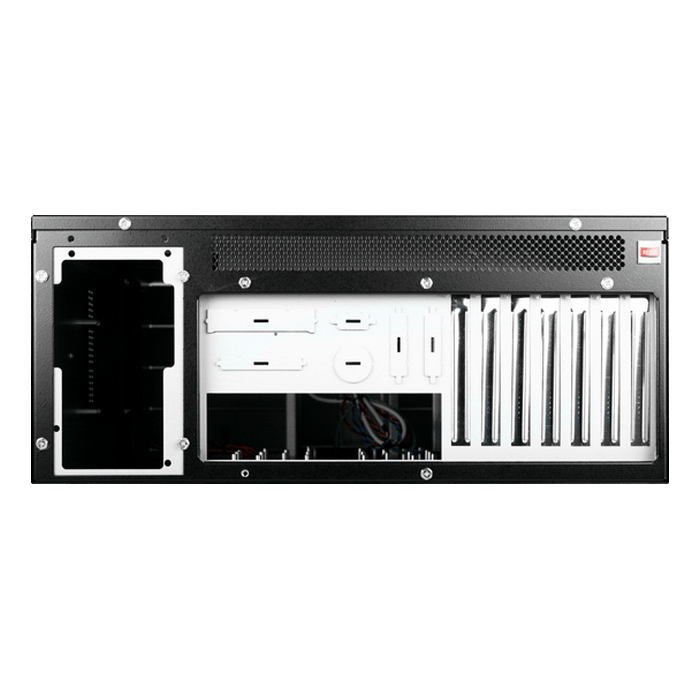 "D Storm D410-DE15RD, Red HDD Handle, 15x 3.5"" Hotswap Bays, No PSU, E-ATX, Black/Red, 4U Chassis"
