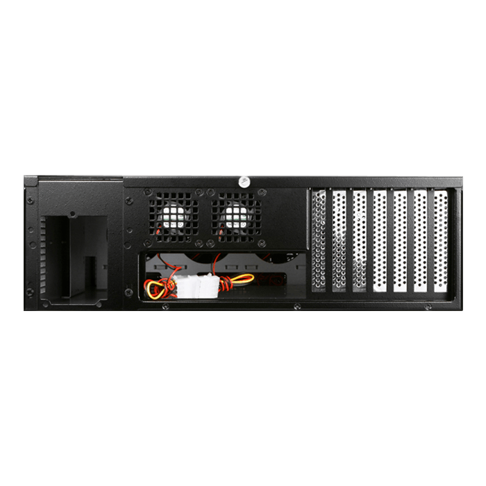 "E306L-B5RD, Red HDD Handle, 3x 5.25"", 3x 3.5"" Drive Bays, 5x 3.5"" Hotswap Bays, No PSU, E-ATX, Black/Red, 3U Chassis"