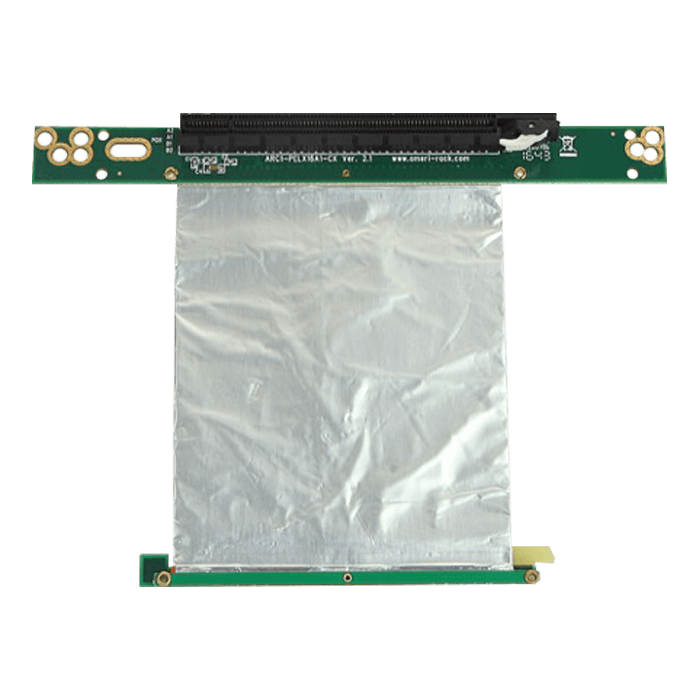 DD-666-C5, PCIe x16 to PCIe x16 Riser Card with 5cm Ribbon Cable