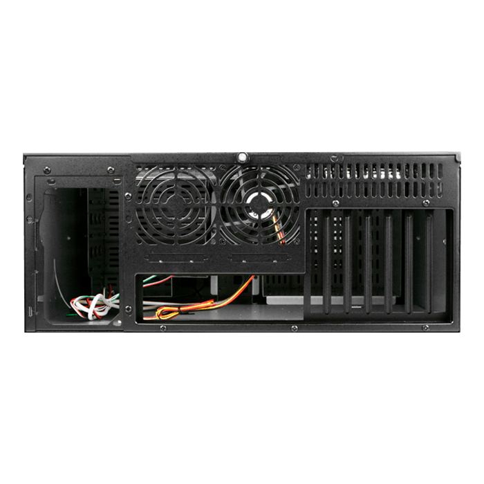 "D Storm D407P-DE6RD, Red HDD Handle, 3x 5.25"", 2x 3.5"" Drive Bays, 6x 3.5"" Hotswap Bays, No PSU, ATX, Black/Red, 4U Chassis"