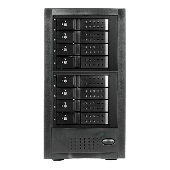 "DAGE840DEBK-2MS, Black HDD Handle, 8x 3.5"" Hotswap Bays, 300W PSU, Black, Storage Tower"