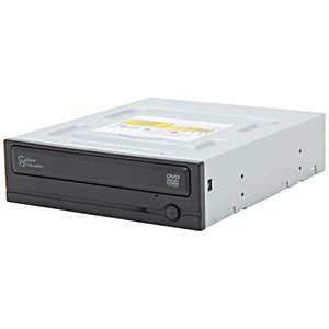Super-WriteMaster™ SH-224BB Black 24x DVD±R/RW Dual-Layer Burner, SATA, w/o Software, OEM