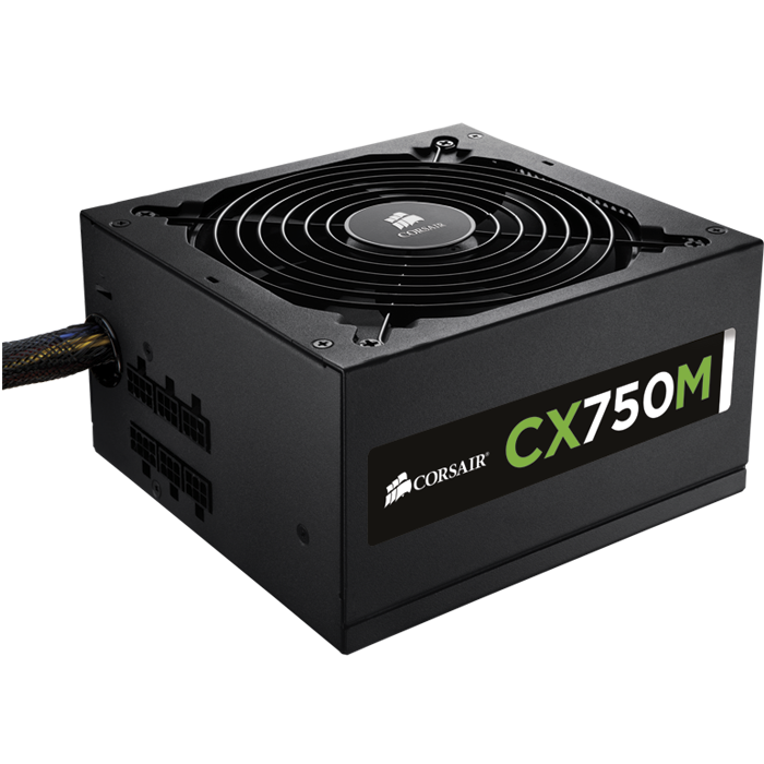 CX750M, 80 PLUS Bronze 750W, Semi Modular, ATX Power Supply