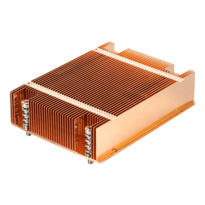 T318 Socket LGA2011 Passive Heatsink for 1U Server Chassis, 135W TDP, Copper