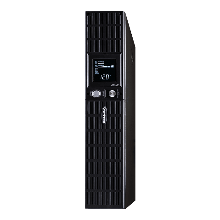 Smart App LCD OR1500LCDRT2U, 1500VA/900W, 120V, 8 Outlets, Black, Tower/2U Rackmount UPS