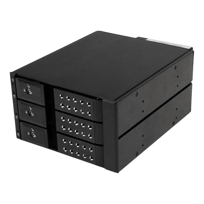 3 Bay Aluminum Trayless Hot Swap Mobile Rack Backplane for 3.5in SAS II/SATA III - 6 Gbps HDD
