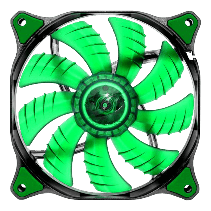 CFD 140mm w/ Green LEDs, 1000 RPM, 73.18 CFM, 18 dBA, Cooling Fan