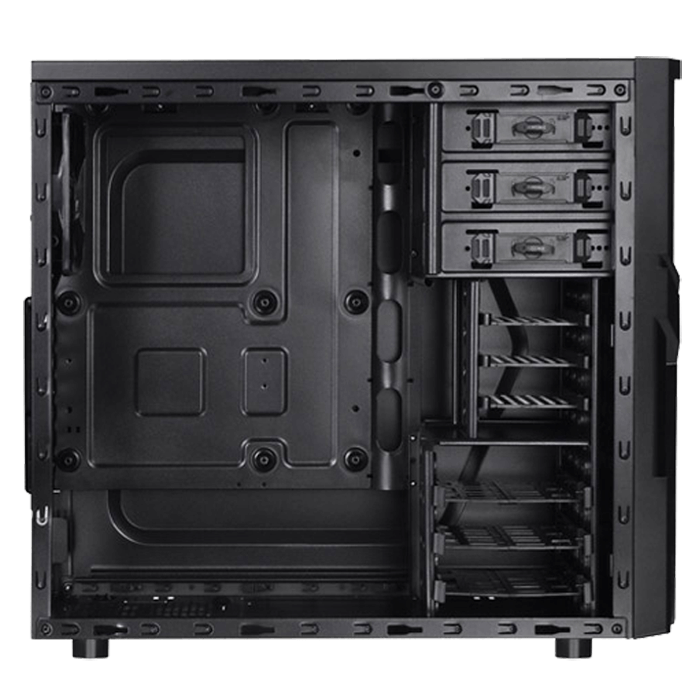 Versa H21, No PSU, ATX, Black, Mid Tower Case