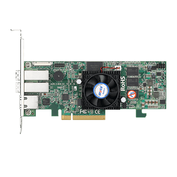 ARC-1883X, SAS 12Gb/s, 8-Port, PCIe 3.0 x8, Controller with 2GB Cache