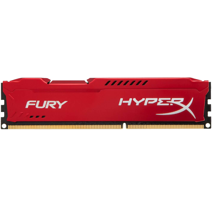 8GB Kit (2 x 4GB) HyperX Fury DDR3 1866MHz, PC3-14000, CL10 (10-11-10) 1.5V, Non-ECC, Red, DIMM Memory