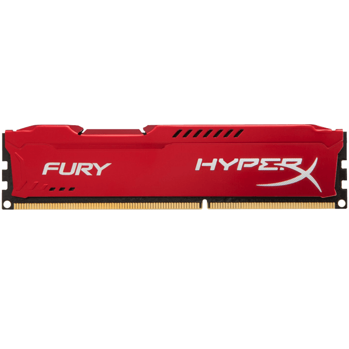 16GB Kit (2 x 8GB) HyperX Fury DDR3 1600MHz, PC3-12800, CL10 (10-10-10) 1.5V, Non-ECC, Red, DIMM Memory