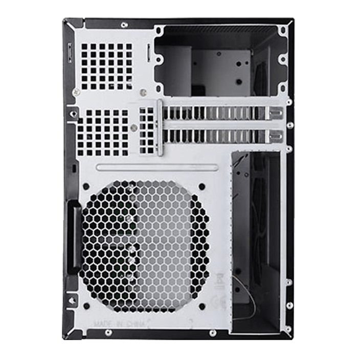 "SST-DS380B, Black HDD Handle, 8 x 3.5"" or 2.5"" Hotswap Bay, No PSU, Mini-ITX, Black, Desktop Chassis"