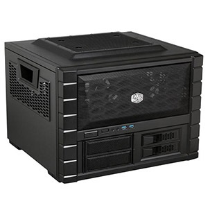 HAF XB EVO, No PSU, ATX, Black, Cube Case